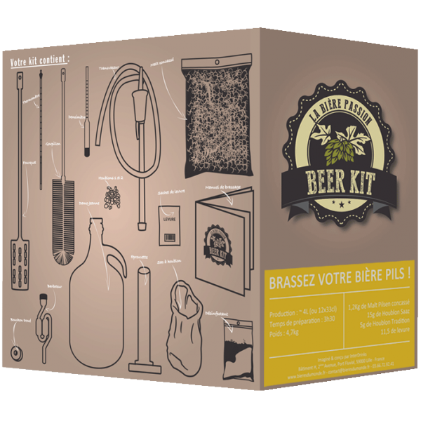 beer kit le kit de brassage id al la cave bi res beziers. Black Bedroom Furniture Sets. Home Design Ideas